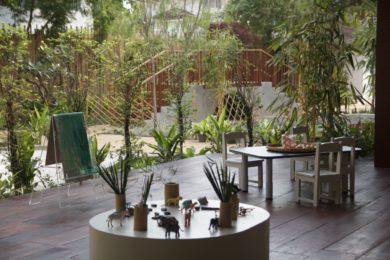 Material In The Garden | Purple Elephant 49 International School Bangkok