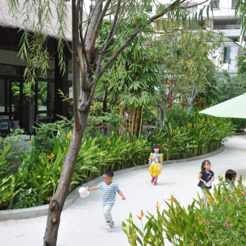 Playing In The Garden | Purple Elephant 49 International School Bangkok